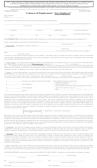 """""""Contract of Employment - New Employee"""" - Georgia (United States)"""