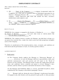 """employment Contract Template"""