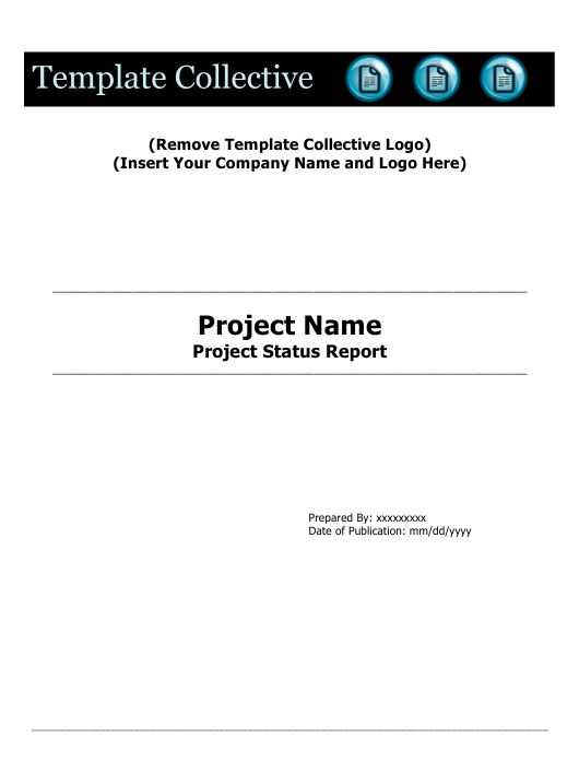 """Project Status Report Template - Tenstep"" Download Pdf"