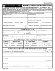 VA Form 10-2850d Application for Health Professions Trainees