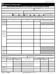VA Form 21-6898 Application for Amounts on Deposit for Deceased Veteran