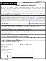VA Form 0927d Media And News Release Questionnaire