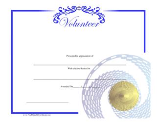 """Volunteer Certificate of Appreciation Template"""
