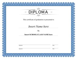 """""""Certificate of Graduation Template"""""""