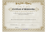 """""""Certificate of Scholarship Template"""""""