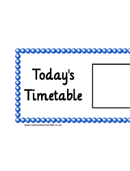 Today's Timetable Horizontal Schedule Template