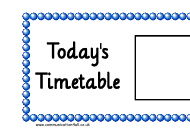 """Today's Timetable Horizontal Schedule Template"""