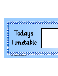 Today's Timetable Horizontal Schedule Template - Blue