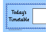 """Today's Timetable Horizontal Schedule Template - Blue"""