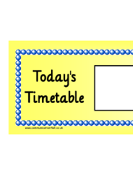 Today's Timetable Horizontal Schedule Template - Yellow