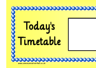 """Today's Timetable Horizontal Schedule Template - Yellow"""