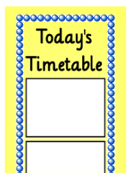 Today's Timetable Schedule Template - Yellow