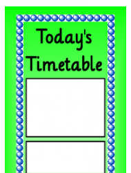 Today's Timetable Schedule Template - Green