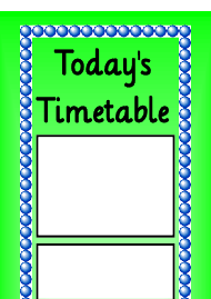 """Today's Timetable Schedule Template - Green"""