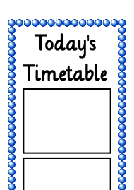 Today's Timetable Vertical Schedule Template