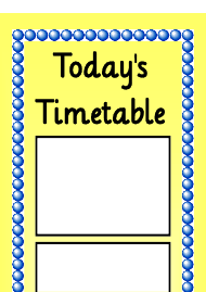 """Today's Timetable Schedule Template - Yellow"""