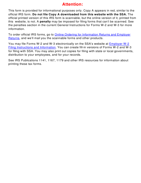 IRS Form W-3C Printable Pdf