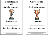 """Certificate of Achievement Template"""