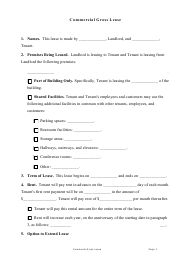 """Commercial Gross Lease Agreement Template"""
