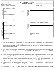 "Form WC(DO)-379 ""Order for Distribution of Temporary Award (For Child Support)"" - New Jersey"