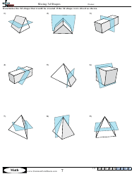 """Slicing 3d Shapes Geometry Worksheet With Answer Key"""
