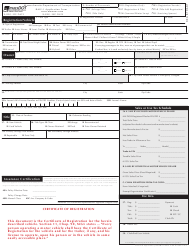 Rmv 1 Form >> Form RMV-1 Download Fillable PDF or Fill Online Application for Registration and Title ...