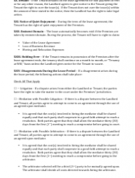 Commercial Lease Agreement Template Download Fillable Pdf