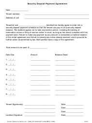 """""""Security Deposit Payment Agreement Template"""""""