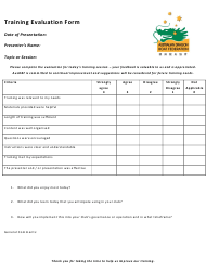 """Training Evaluation Form - Australian Dragon Boat Federation"""
