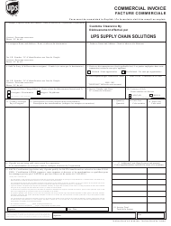 Commercial Invoice Form (English/French) - Ups