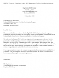 Sample Corporate Commitment Letter