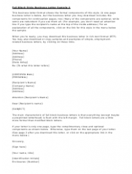 Full Block Style Business Letter Templates