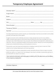 """Temporary Employee Agreement Template"""
