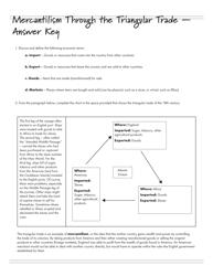 """Mercantilism Through the Triangular Trade Worksheet With Answer Key - Western Reserve Public Media: 101 Economics Academy"""