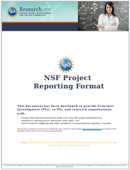 """""""Nsf Project Reporting Format"""""""