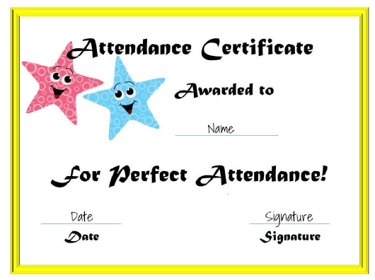 """""""Certificate of Attendance Template"""" Download Pdf"""