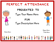 """Pre-school Certificate of Attendance Template"""