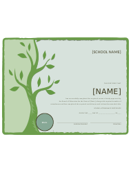 School Certificate Of Attendance Template