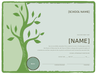 """School Certificate of Attendance Template"""