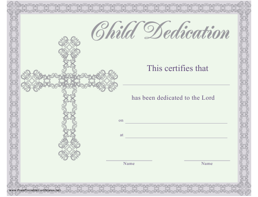 photo about Free Printable Baby Dedication Certificates identify Youngster Determination Certification Template Obtain Printable PDF
