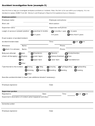 """Accident Investigation Form"""