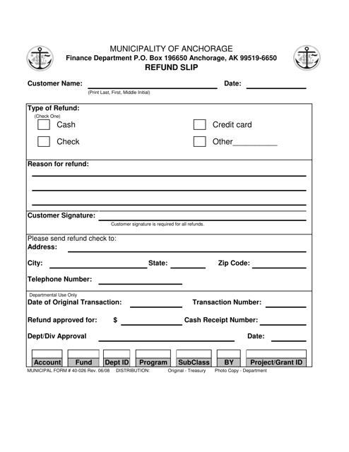 Form 40-026  Printable Pdf