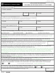VA Form 10-0430 Application for Assistance for Hiring and Retaining Nurses at State Homes