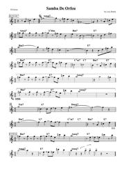 """""""Luiz Bonfa - Samba De Orfeu Sheet Music"""""""