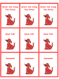 """Clifford Potty Training Coupon Template"""