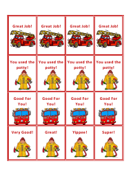 """Fire Truck Potty Training Coupon Template"""