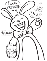 """Happy Easter Bunny Coloring Sheet"""