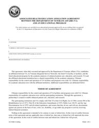 VA Form 10-0094g Associated Health Education Affiliation Agreement