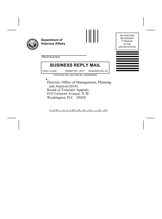 VA Form 0745  Printable Pdf
