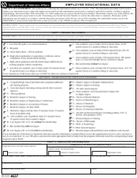 VA Form 4637 Employee Educational Data